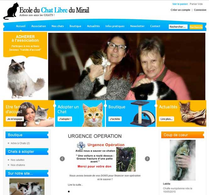 site adoption chat chien bonheur. Black Bedroom Furniture Sets. Home Design Ideas